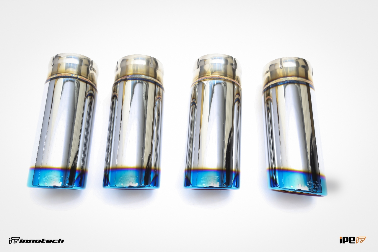 iPE BMW E90&E92 M3 Exhaust 06-Titanium blue plating Tips