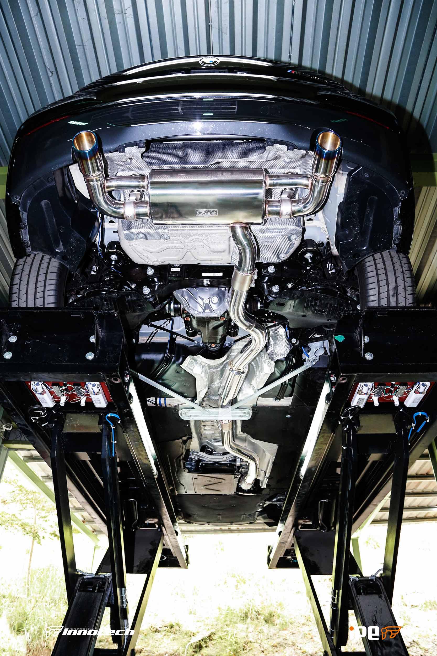 BMW M235i IPE exhaust system