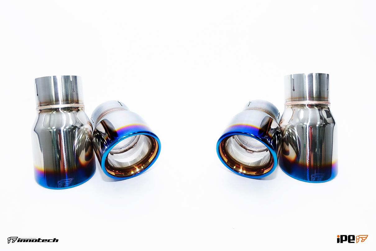 iPE BMW F22 M235i Exhaust 08-titanium blue tips