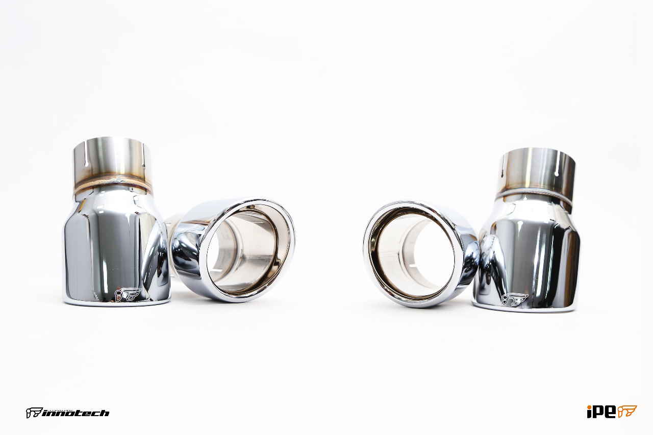 iPE BMW F22 M235i Exhaust 09- tips Chrome Silver