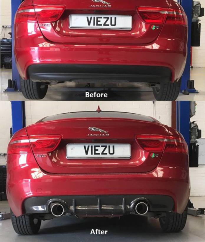 Jaguar XE Performance Exhaust