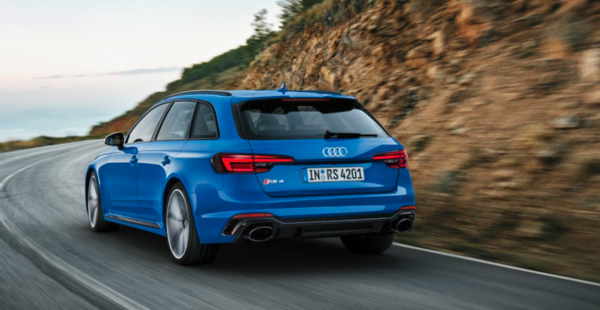 The Newest Audi RS4 gains 444bhp from a 2.9-litre bi-turbo V6