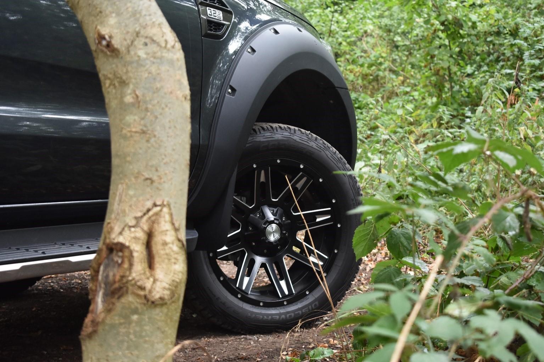 Ford Ranger 20 inch alloy wheels diamond cut 8 spoke
