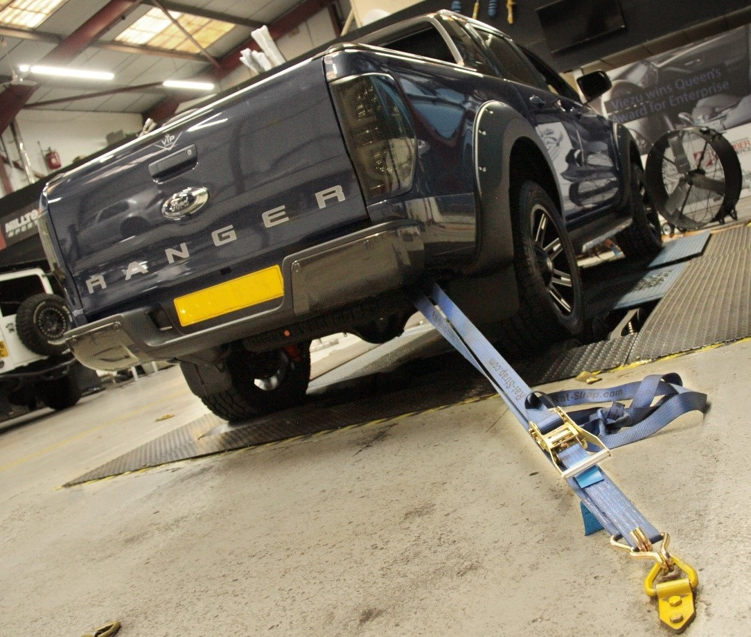 Ford Ranger tuning and styling dyno run