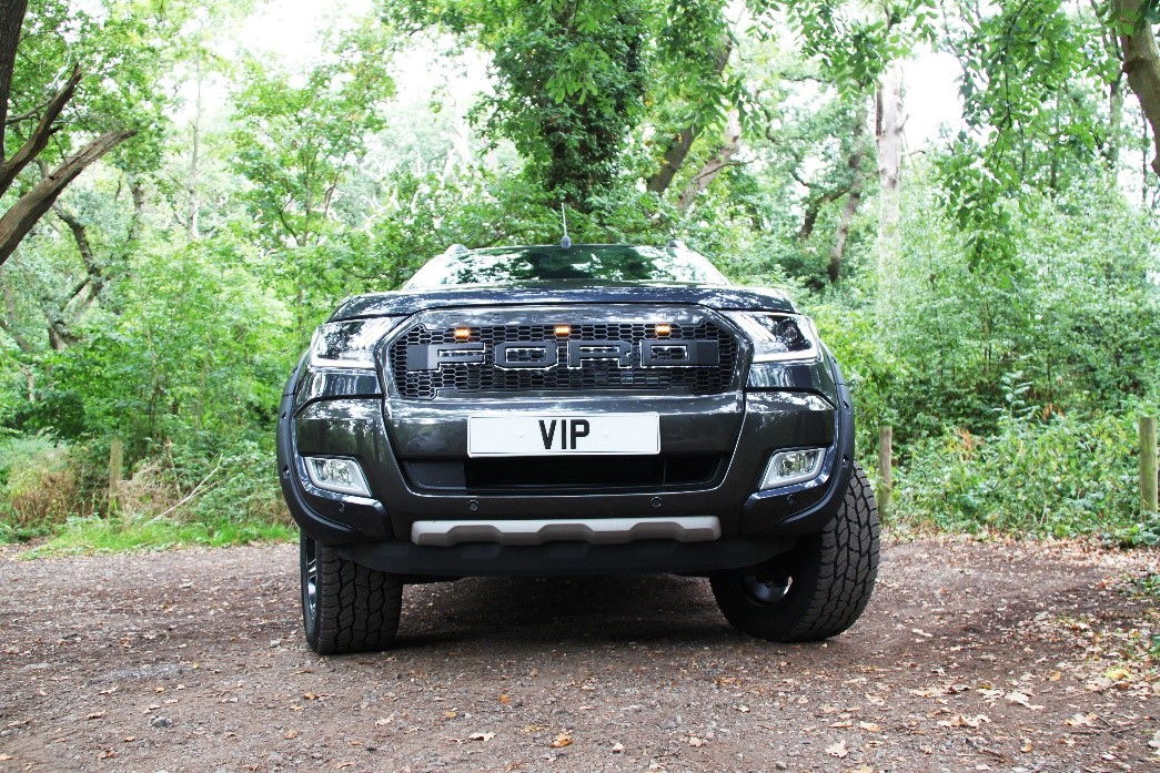 Ford Ranger tuning and styling front LED grille and Mustang headlights