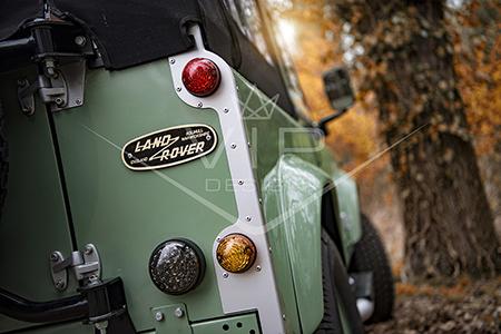 Land Rover Defender Heritage Restoration - LED Light Upgrade Rear