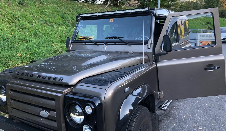 Land Rover Defender Upgraded Seats Customer Image of Defender
