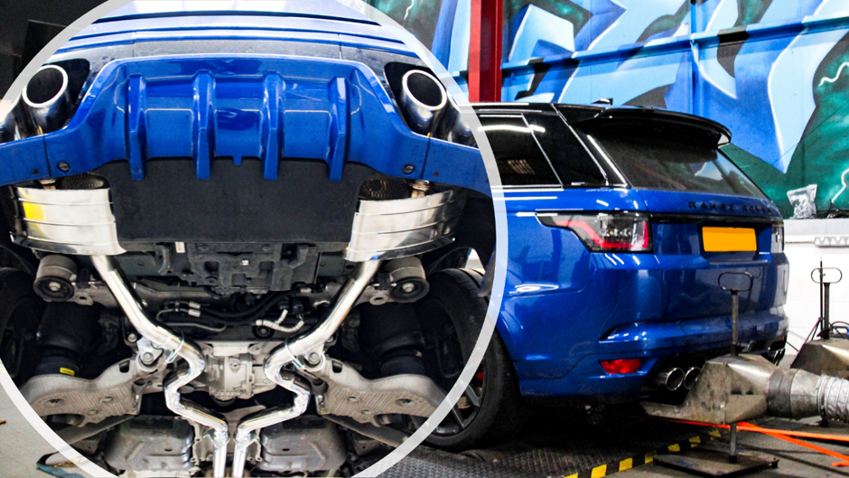 Range Rover SVR 2019 Exhaust and Dyno