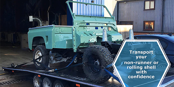 VIEZU vehicle transport Land Rover Defender restoration transport