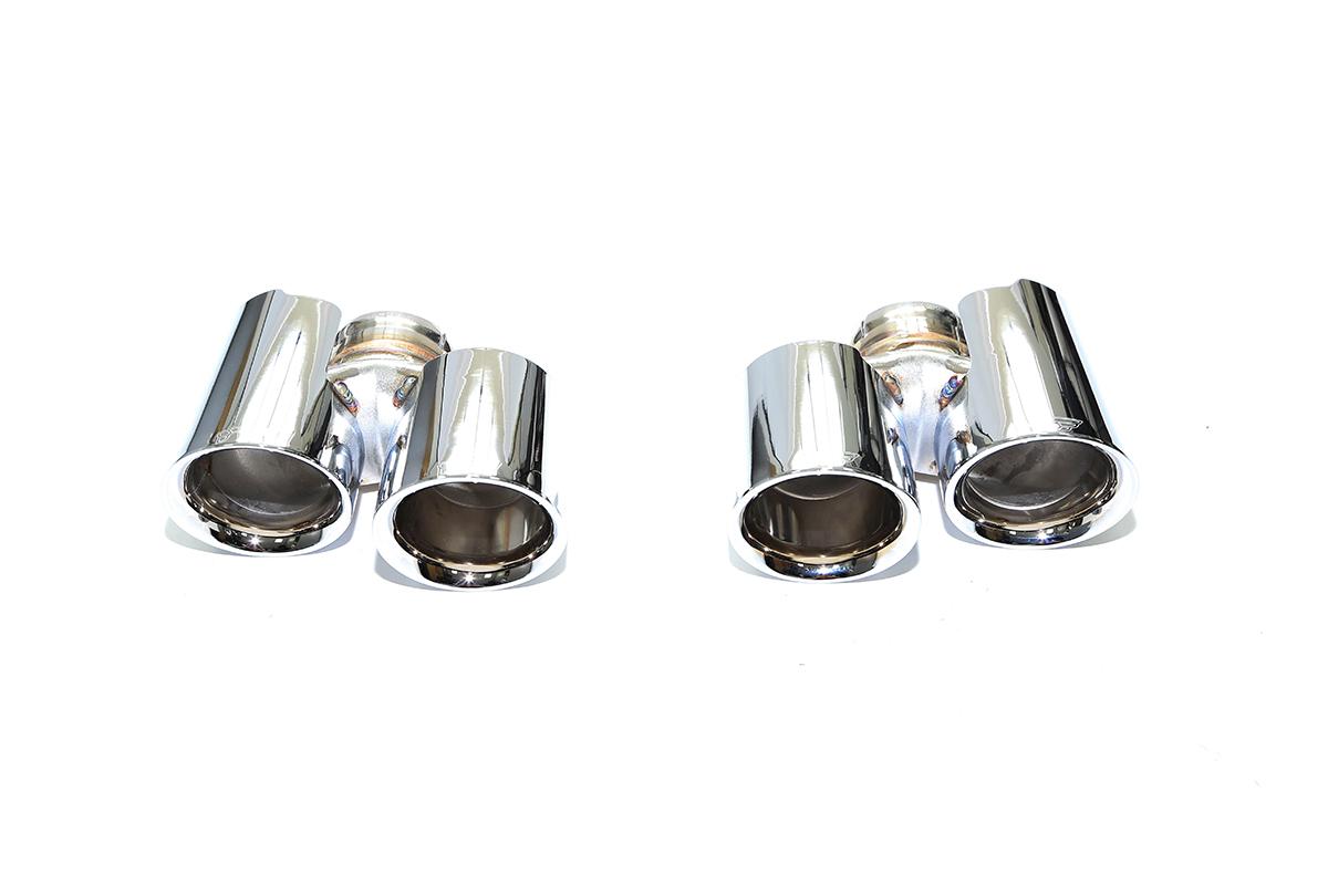 iPE Porsche 991 Turbo Exhaust Silver Tips