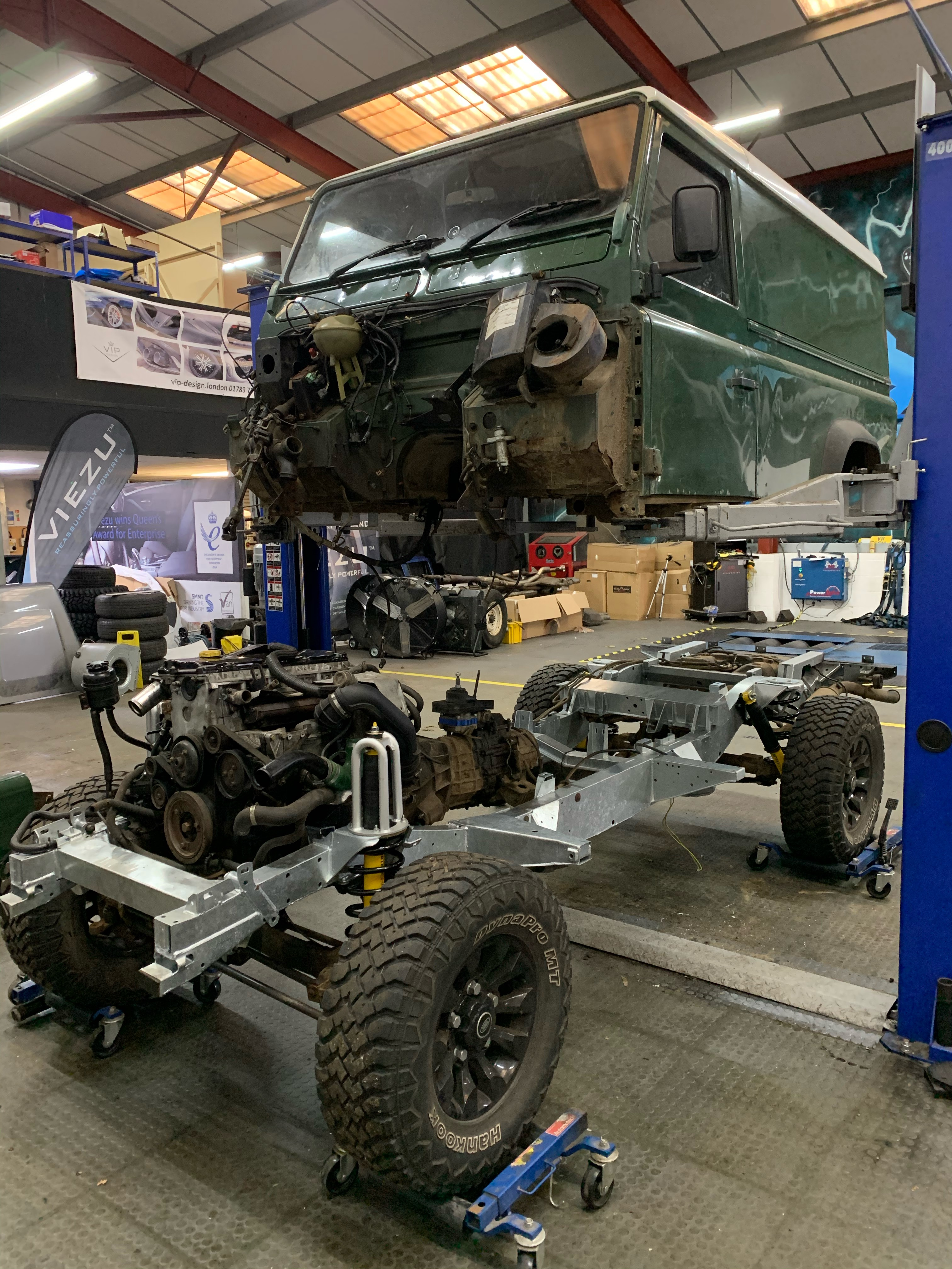 land rover defender chassis